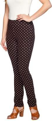 Susan Graver Weekend Printed Cotton Spandex Ankle Length Leggings