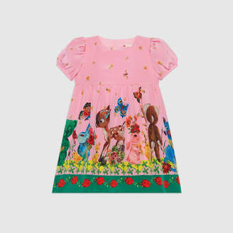 Gucci Baby animals print silk dress