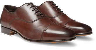 Santoni Leather Cap-Toe Oxford Shoes - Men - Brown