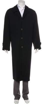 Giorgio Armani Wool Button-Up Coat