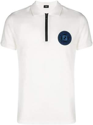 Fendi front logo polo shirt