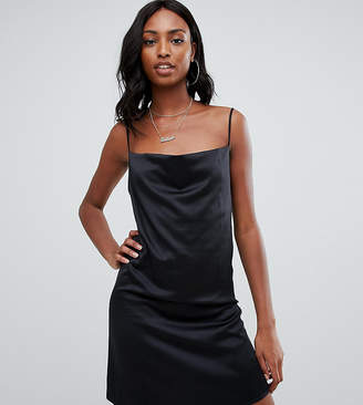 Missguided Tall strappy cowl satin mini slip dress