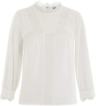 Whistles Tabby Lace Panelled Blouse