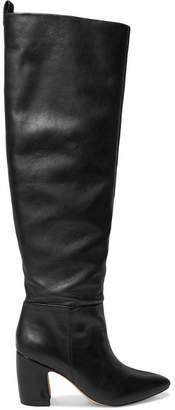 Sam Edelman Hutton Leather Knee Boots - Black