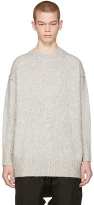 R 13 Grey Oversized Crewneck Sweater