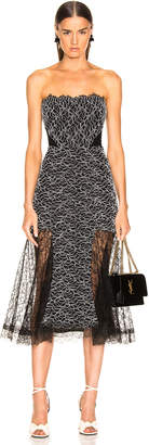 Alexis Ornella Dress in Corded Leaf Lace | FWRD