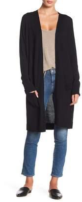 Halogen Long Open Wool Blend Cardigan