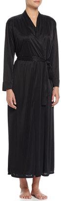 Natori Truffle Knit-Chenille Wrap Robe, Black $140 thestylecure.com