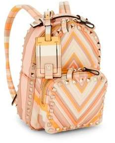 Valentino Rockstud Striped Backpack