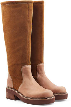 See by Chloe Suede Knee Boots with Leather