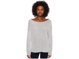 Three Dots Boucle Sweater Knit Drop Sleeve Top Women's Sweater