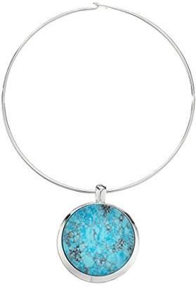 Robert Lee Morris Soho Blue Dimension Semiprecious Round Wire Pendant Necklace