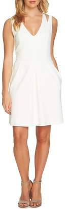 CeCe Split Sleeveless A-Line Dress