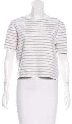 Burberry Cropped Wool Knit Top