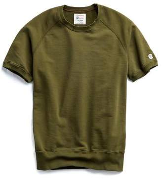Todd Snyder + Champion Short Sleeve Sweatshirt in Military Olive