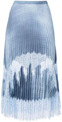 Ermanno Scervino lace panel pleated skirt