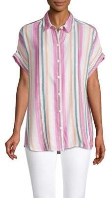 BeachLunchLounge Beach Lunch Lounge Striped High-Low Shirt