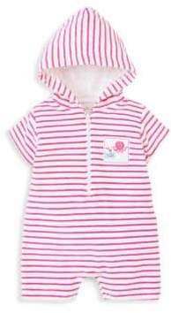 Kissy Kissy Baby's Stripe Embroidered Patch Terry Romper