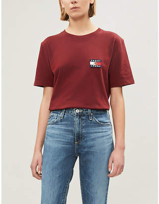 Tommy Jeans CAPSULE Crest flag cotton-jersey T-shirt