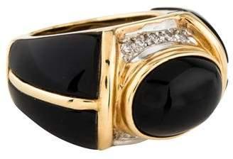 Ring 14K Onyx & Diamond Cocktail