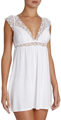 Eberjey Kiss the Bride Cap-Sleeve Chemise