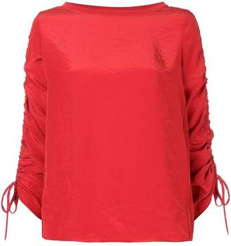 Marc Cain ruched sleeve blouse