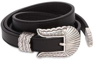 15mm Low Waist Thin Kim Leather Belt