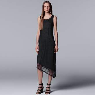 Vera Wang Women's Simply Vera Textured Lace Asymmetrical Dress