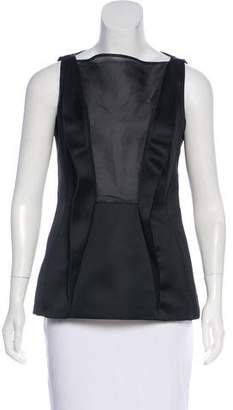 Cédric Charlier Sleeveless Satin Top
