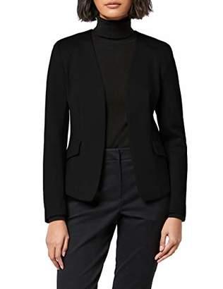 MERAKI Women's Collarless Stretch Jersey Comfort Blazer