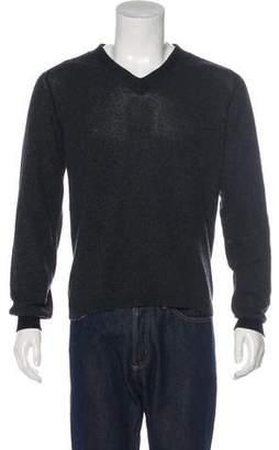 Prada Cashmere Leather-Trimmed Sweater