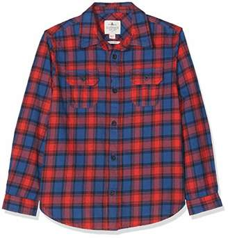 Fat Face Boy's Daniel Multi Square Shirt, (Slate Blue Blu), Years (Size: 4-5)