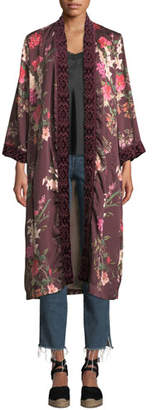 Johnny Was Velvet Mix Napa Fields Printed Kimono