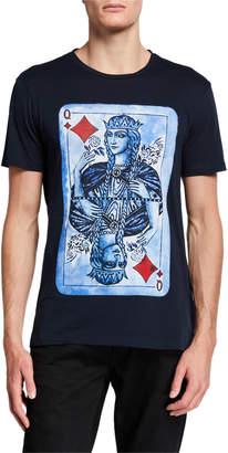 Eleven Paris Men's Queen of Diamonds Short-Sleeve Graphic T-Shirt