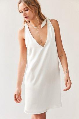 Kimchi Blue Tie-Shoulder Silky Mini Dress $69 thestylecure.com