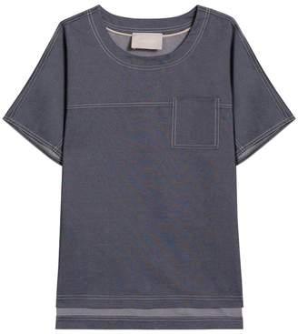 Jason Wu Silk Denim T Shirt
