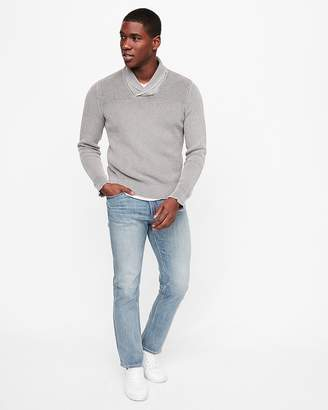 Express Garment Dyed Shawl Collar Popover Sweater