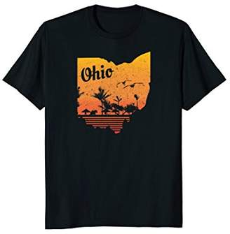 Tropical Ohio Funny Distressed T-Shirt for Men and Women