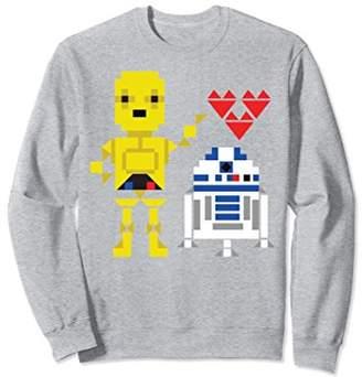 Star Wars C-3PO R2-D2 Pixel Love Valentine's Sweatshirt