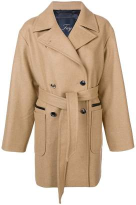 Fay buttoned midi coat