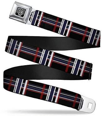 Buckle-Down Unisex-Adult's Seatbelt Belt Plaid Regular