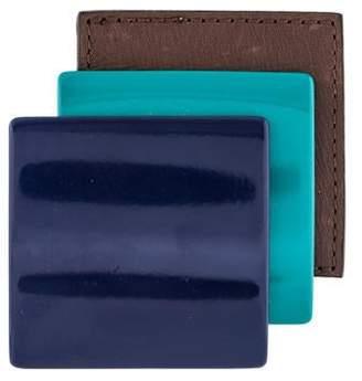 Marni Leather & Acrylic Brooch