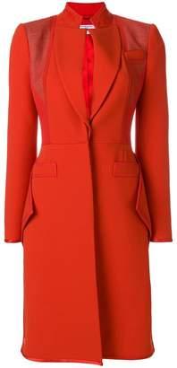 Givenchy Ruffle hem crepe coat