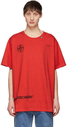 Off-White Off White Red Stencil T-Shirt