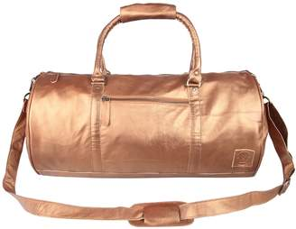 MAHI Leather - Leather Weekend Classic Duffle/Holdall - Overnight/Gym Bag in Bronze