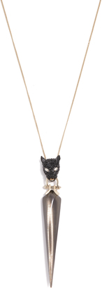 Alexis Bittar Crystal Encrusted Panther Pendant Necklace $225 thestylecure.com