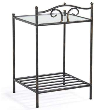 Yaheetech 2 Tier Iron Kitchen Bakers Rack Indoor Metal Night Stands, Antique Style