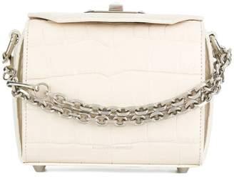 Alexander McQueen Box crocodile embossed bag