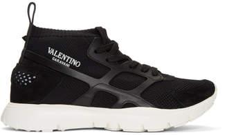 Valentino Black Garavani Sound High-Top Sneakers