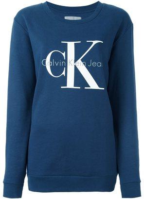 Calvin Klein Jeans logo print sweatshirt $95.60 thestylecure.com